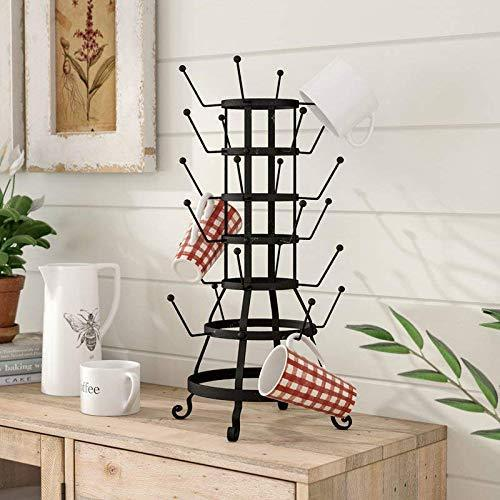 Heavy duty laurel foundry modern farmhouse decorative metal zinc mug holder with 24 hooks basic design concepts expert guide