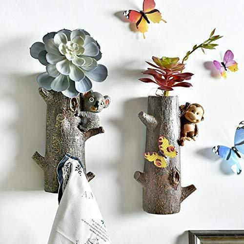 Amazon zamtac fashion floral coat rack door clothesroom wall mounted coat hook clothing rack key holder hat hanger wall hanger flower pot color k
