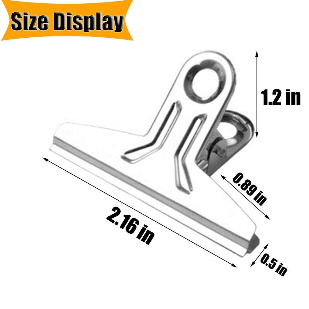 Budget chip bag clips food clips heavy duty clips for bag cloth silver all purpose air tight seal good grip clips cubicle hooks clips 2 16 wide clips hinge clamp file binder clips office home 20 pack
