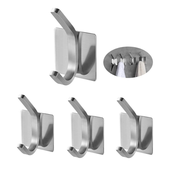 Buy now fle coat hooks adhesive hooks bathroom towel hooks wall hooks stainless steel hooks bath robe hook wall mount 4 pack