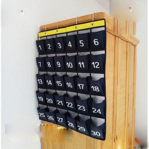 Results lecent numberes classroom pocket chart for cell phones business cards 30 pockets wall door closet mobile hanging storage bag organizer with hooks