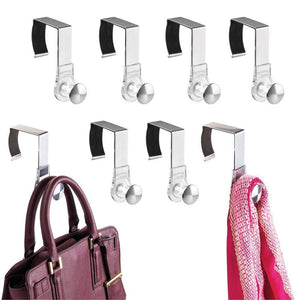 Related mdesign modern metal and plastic office over the cubicle storage organizer hooks wall panel hangers for hanging accessories coats hats purses bags keychain 8 pack clear brushed