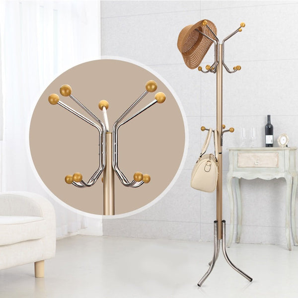 Coat Stand Rack Stainless Steel Simple Assembly Hangers Landing Creative Racks
