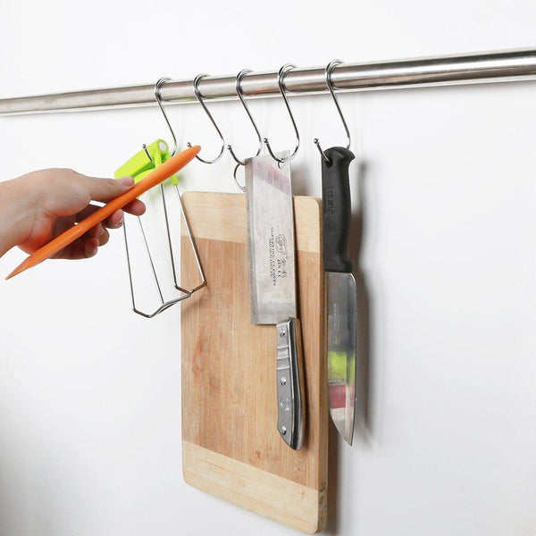 Shop for mxy s hook s shaped hanging stainless steel hooks tool pack of 5 pcs metal hooks hangers for home kitchen and garage gardening tools