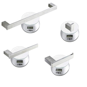 Save on homeelegance bathroom hardware set 4 piece wall mounted shelves stainless steel towel bars toilet paper holder robe hook bathroom fixture set