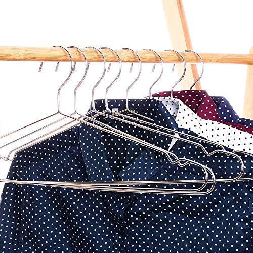 Xyijia Hanger 45Cm Stainless Steel Strong Metal Wire Hangers, Coat Hanger, Standard Suit Hangers, Clothes Hanger (30 Pcs/Lot)