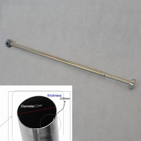 szdealhola Stainless Steel Extendable Tension Closet Rod Extender Hanging Pole Retractable