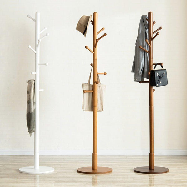 Storage organizer sweet honey cloth hanger rack stand tree hat hanger holder free standing solid wood coat rack floor hanger for bedroom living room hall 10 hooks r 47x175cm19x69inch