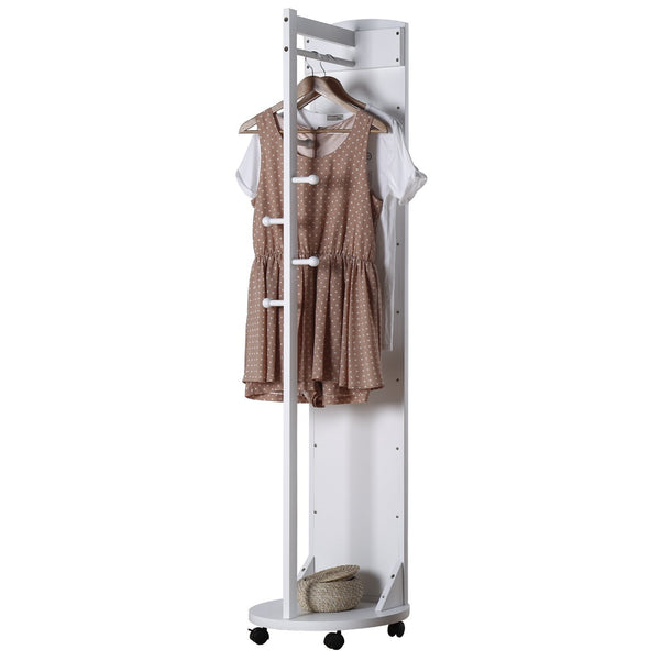 Shop here tiny times multifunctional 360 swivel wooden frame 69 tall full length mirror dressing mirror body mirror floor mirror with hanging bar coat stand coat hooks ivory white