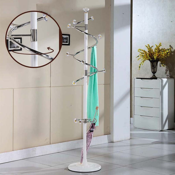 AJZGFCoatrack Metal Stainless Steel Bedroom Coat Rack Floor Assembly Stylish and Creative Rotating Indoor Living Room Hangers Hatstand (Style : H)