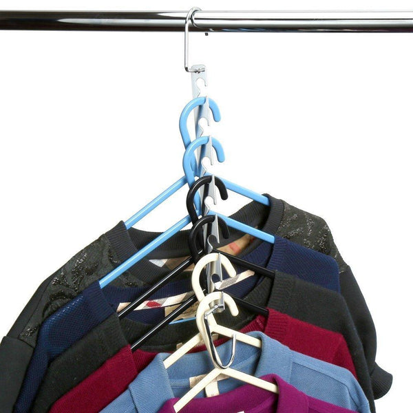 Discover the mishen magical space saving chrome hangers hangers hook rack clothing organiser save space for wardrobe heart shaped design stainless steel set of 6