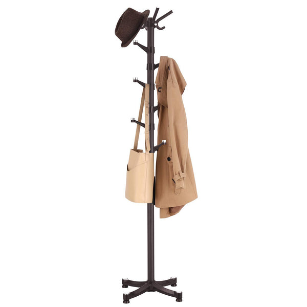 Explore songmics coat rack purse rack hall tree with 14 rotating plastic hooks espresso urcr19z