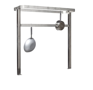 Exclusive tarrison tpr48 stainless steel table mount pot rack with 8 hooks 48 length x 48 height x 16 depth