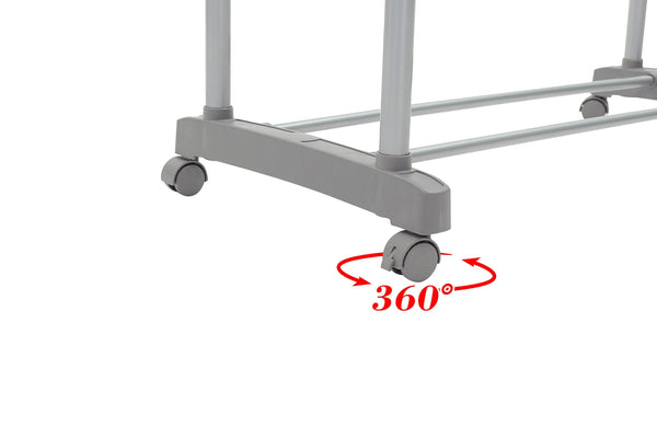 UNIWARE 19011 Stainless Steel Double Garment Rack,Durable,Expandable