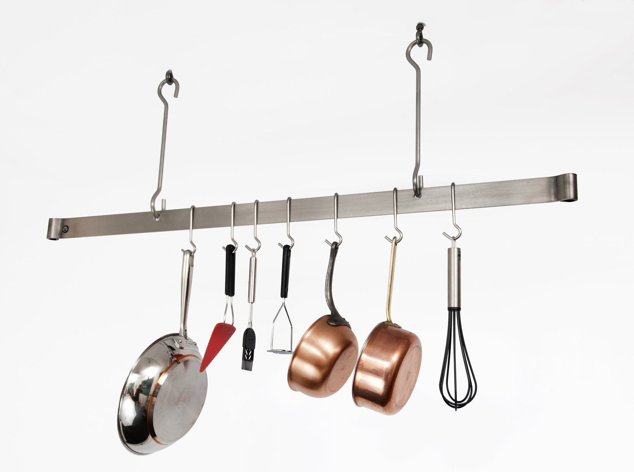 Amazon best enclume premier 48 inch offset hook ceiling bar pot rack stainless steel