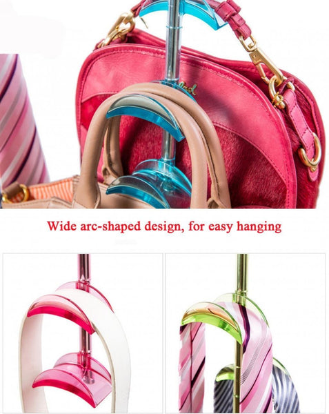Latest louise maelys 3 packs hanger rack 4 hooks closet organizer for handbags scarves ties belts 360 degree rotating