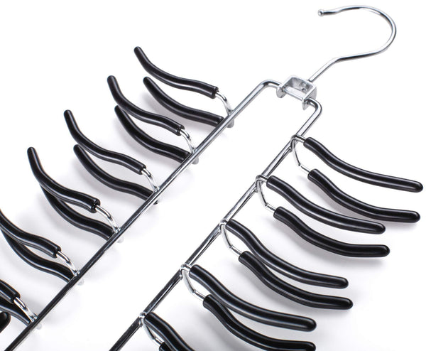 Top frank pressie 2 pcs pants hangers space saving clothes organizer skirts stainless steel non slip black rubber 4 tier and tie hanger hook belt rack multi layered open ended 24 bar