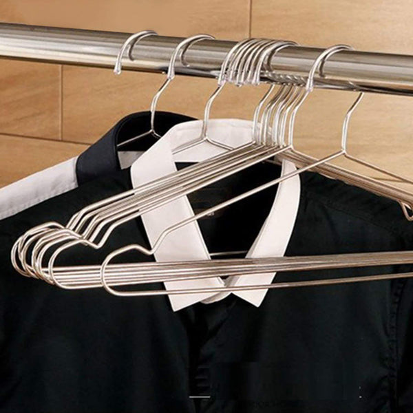 TUXWANG Metal Hangers, 40 Pack Stainless Steel Strong Wire Clothes Hangers-16.5 Inch, Silvery