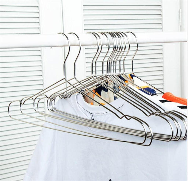 WWZY Stainless steel Hanger Non-slip No trace Multifunction hangers (pack of 20) , 42cm