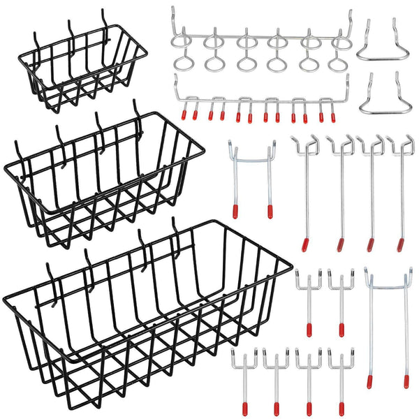 Kitchen pegboard hook assortment cheaboom pegboard hooks and organizer assortment peg hook organization with basket
