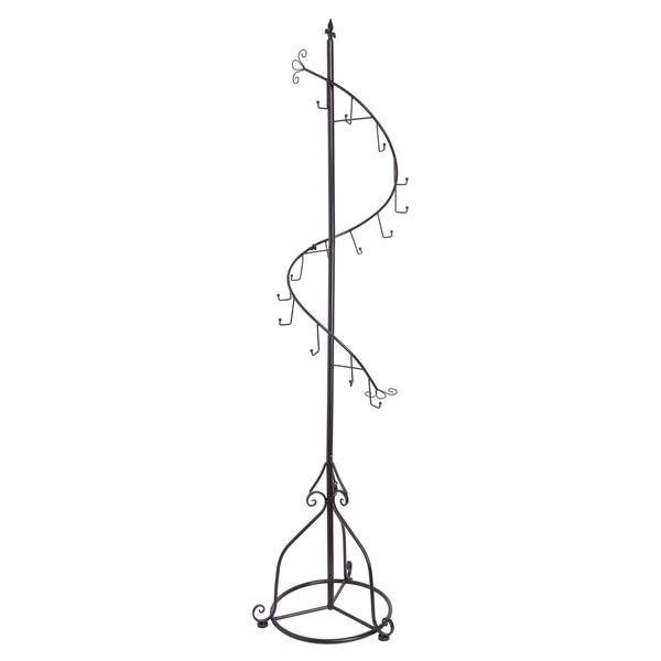 Products mygift elegant black metal 14 hook spiral coat hanger bag display garment rack stand