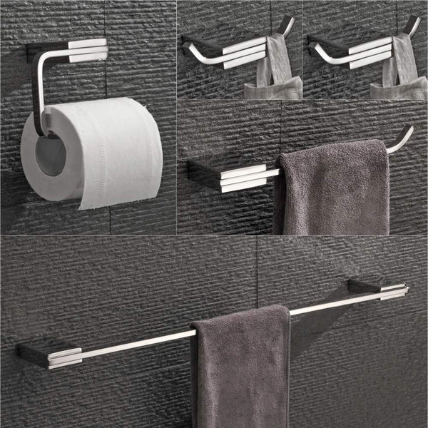Discover the best velimax bathroom 5 piece hardware set chrome bathroom holder set stainless steel wall mounted towel hook towel ring toilet roll holder towel bar polished finish