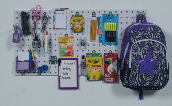 Latest triton products1 18 in w x 36 in h x 9 16 in d white epoxy 18 gauge steel square hole pegboards with 18 pc lochook assortment and includes mounting hardware