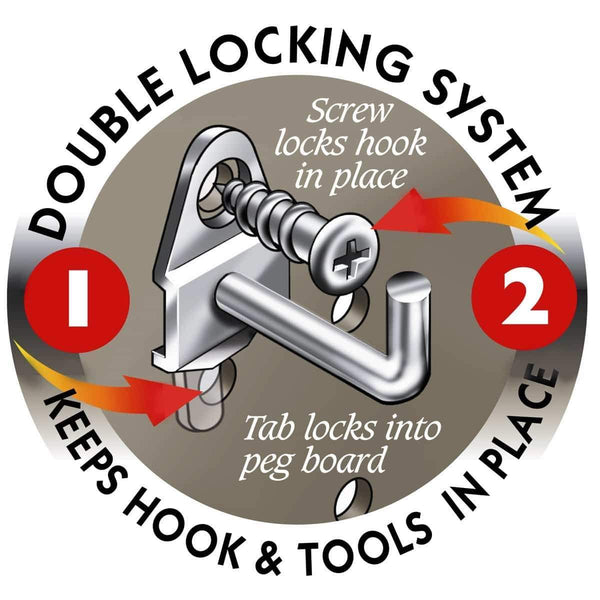Shop here durahook 76994 deluxe locking hook and hanging bin assortment with 84 assortment hooks and 10 bins 94 piece