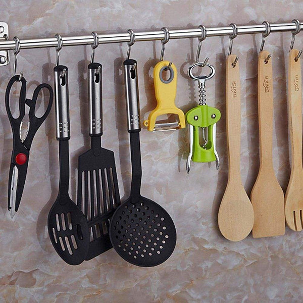 Shop for lzttyee stainless steel pot pan rack wall mounted lid holder organizer multifunctional kitchen utensils 10 hooks