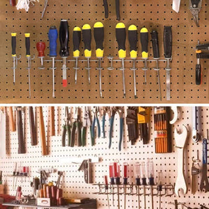 Home pegboard hook assortment cheaboom pegboard hooks and organizer assortment peg hook organization with basket