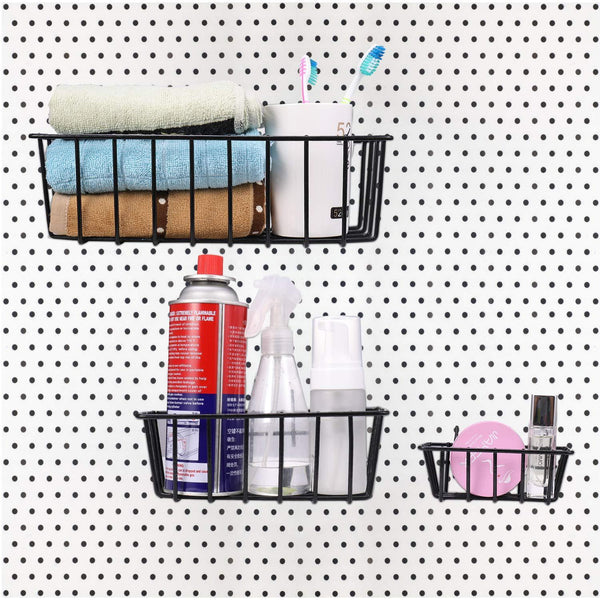 On amazon pegboard hook assortment cheaboom pegboard hooks and organizer assortment peg hook organization with basket