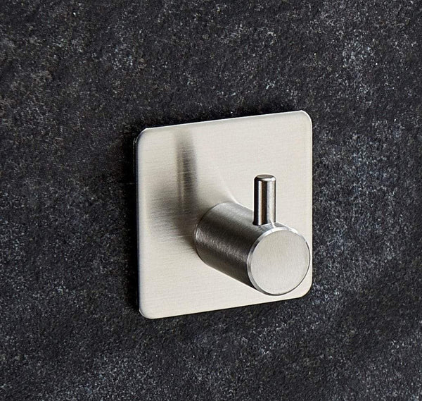 Storage innoam robe towel coat hook 3m self adhesive bathroom kitchen wall hooks brushed stainless steel 4 pack