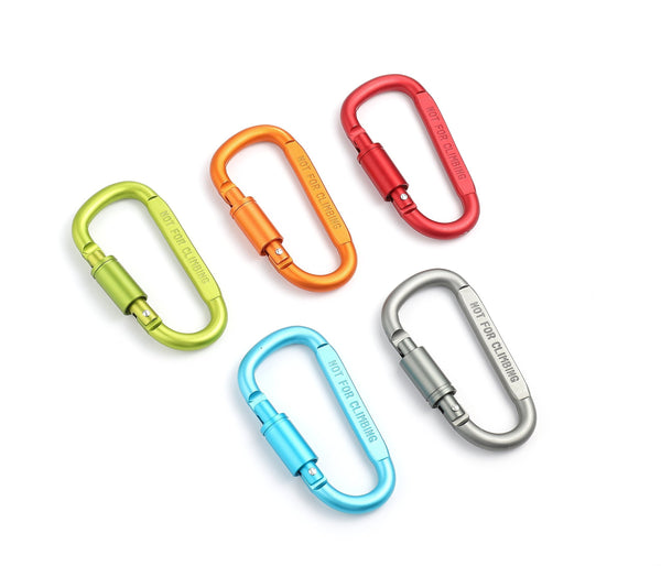 Buy drayas aluminum carabiner d shape buckle pack keychain clip spring snap key chain clip hook screw gate buckle 10pcs multicolor 10pcs
