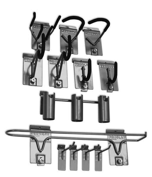 Shop proslat 11005 sports equipment steel hook variety kit designed for proslat pvc slatwall 13 piece