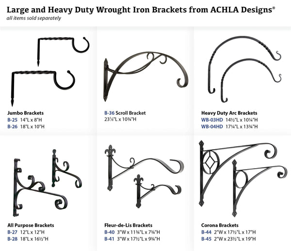 Selection achla designs scroll wall bracket hook b 36