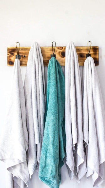 Kitchen vintage rustic coat rack authentic burnt wood hanger for towels clothes hats bags antique door wall mounted 5 hook rail vintage style wire hooks 26 x 7 8 x 5 burnt wood original