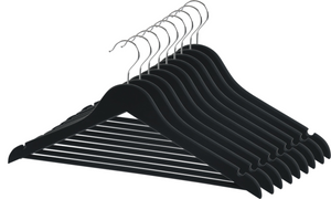 Closet Spice Wood Hangers - Set of 40 (Black)