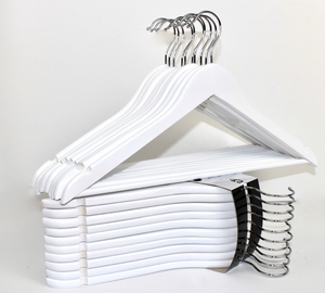 Closet Spice Wood Hangers - Set of 40 (White)