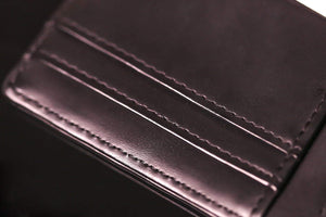 Minimalist Custom Leather Wallet with RFID Protection - XOIR