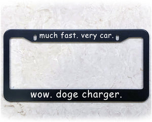 DOGE CHARGER | License Plate Frame