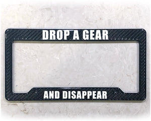 DROP A GEAR | License Plate Frame