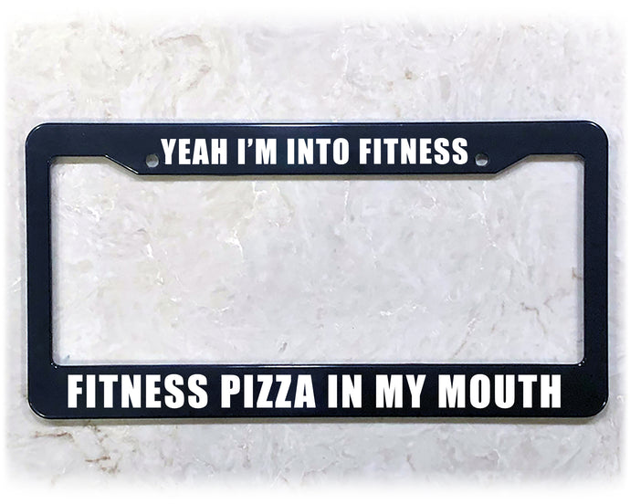 FITNESS PIZZA | License Plate Frame