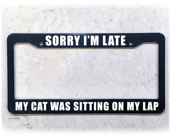 CAT IS BAE | License Plate Frame