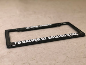 ROLLING COAL | License Plate Frame