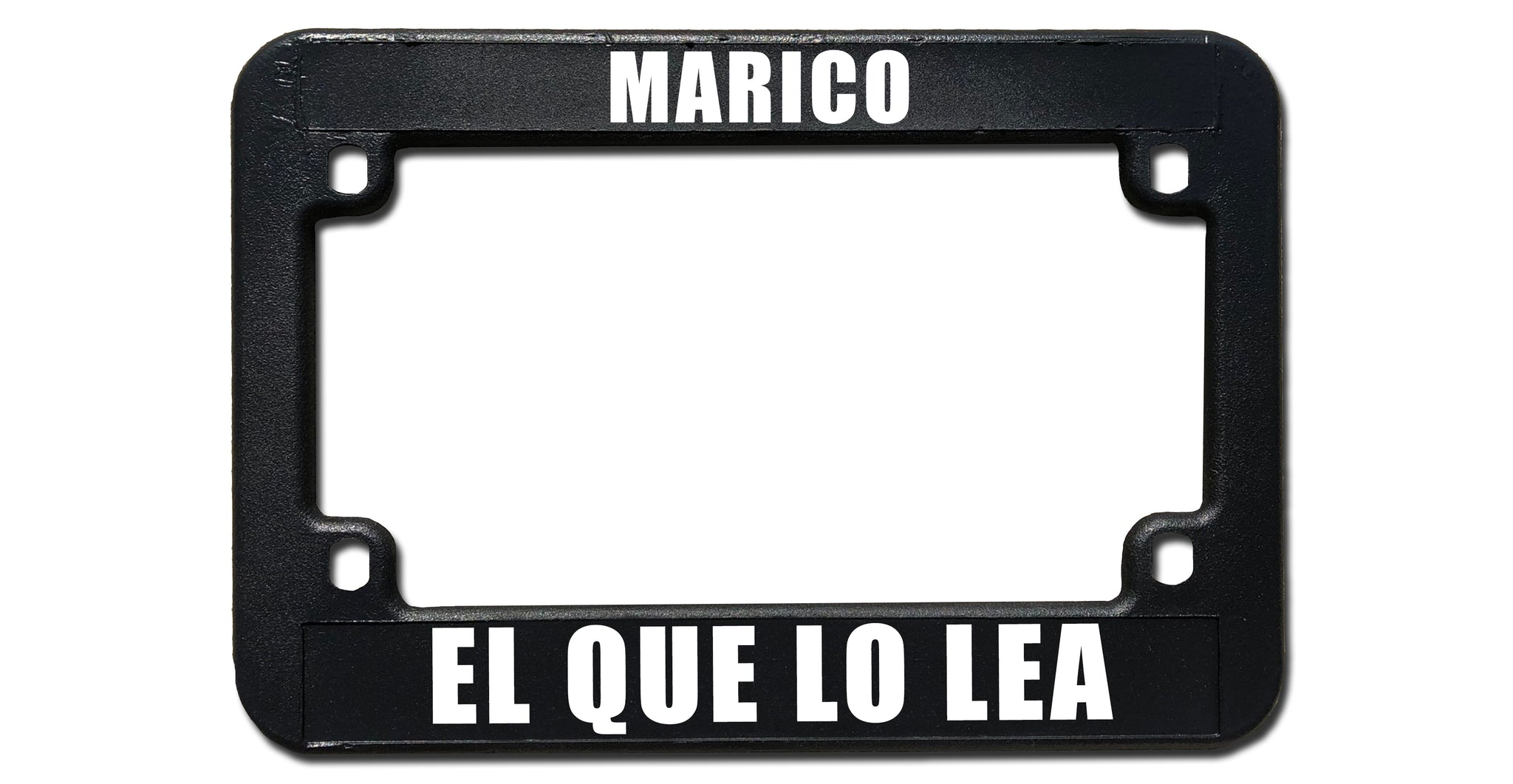 MARICO | Motorcycle License Plate Frame | Custom | Black Frame ...