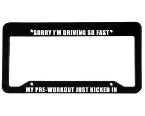 PRE-WORKOUT<br> Meme Inspired <br> License Plate Frame