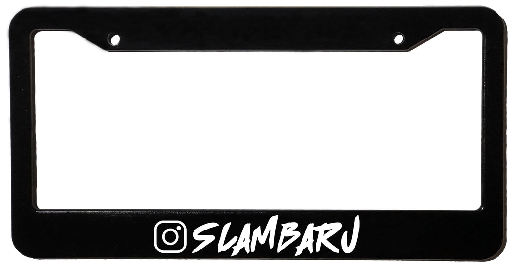 SLAMBARU <br> Custom <br> License Plate Frame, Custom