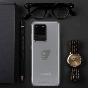 MEME FRAMES <br> Samsung Case <br> See-Through | Silver Logo