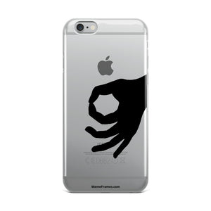 MEME FRAMES <br> iPhone Case <br> See-Through | Black Logo