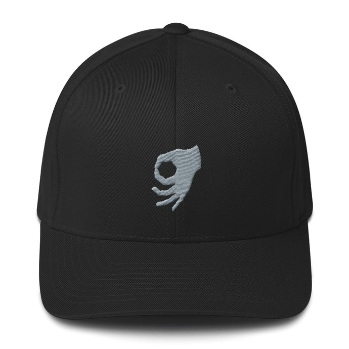 MEME FRAMES <br> Structured Twill Dad Hat <br> Black Cap | Silver Logo, APPAREL & ACCESSORIES